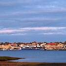 Yarmouth Waterfront with CAT Ferry by Debbie  Roberts