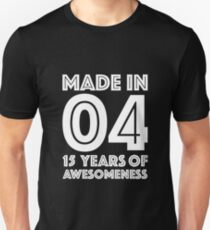daebc43ea Camiseta unisex 15 cumpleaños regalo adolescentes edad 15 años niño niña