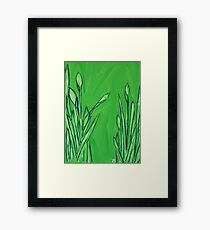 """Water Greenery"" Framed Print"