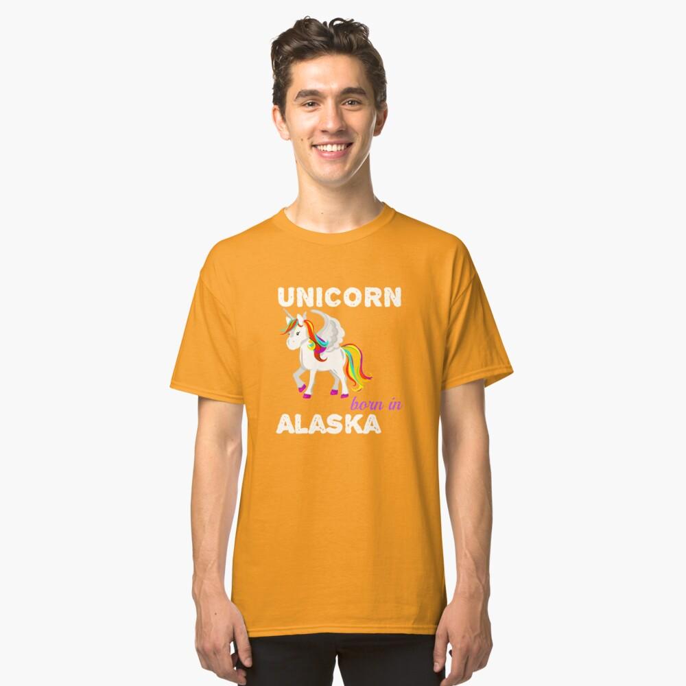 Einhorn in Alaska geboren Classic T-Shirt