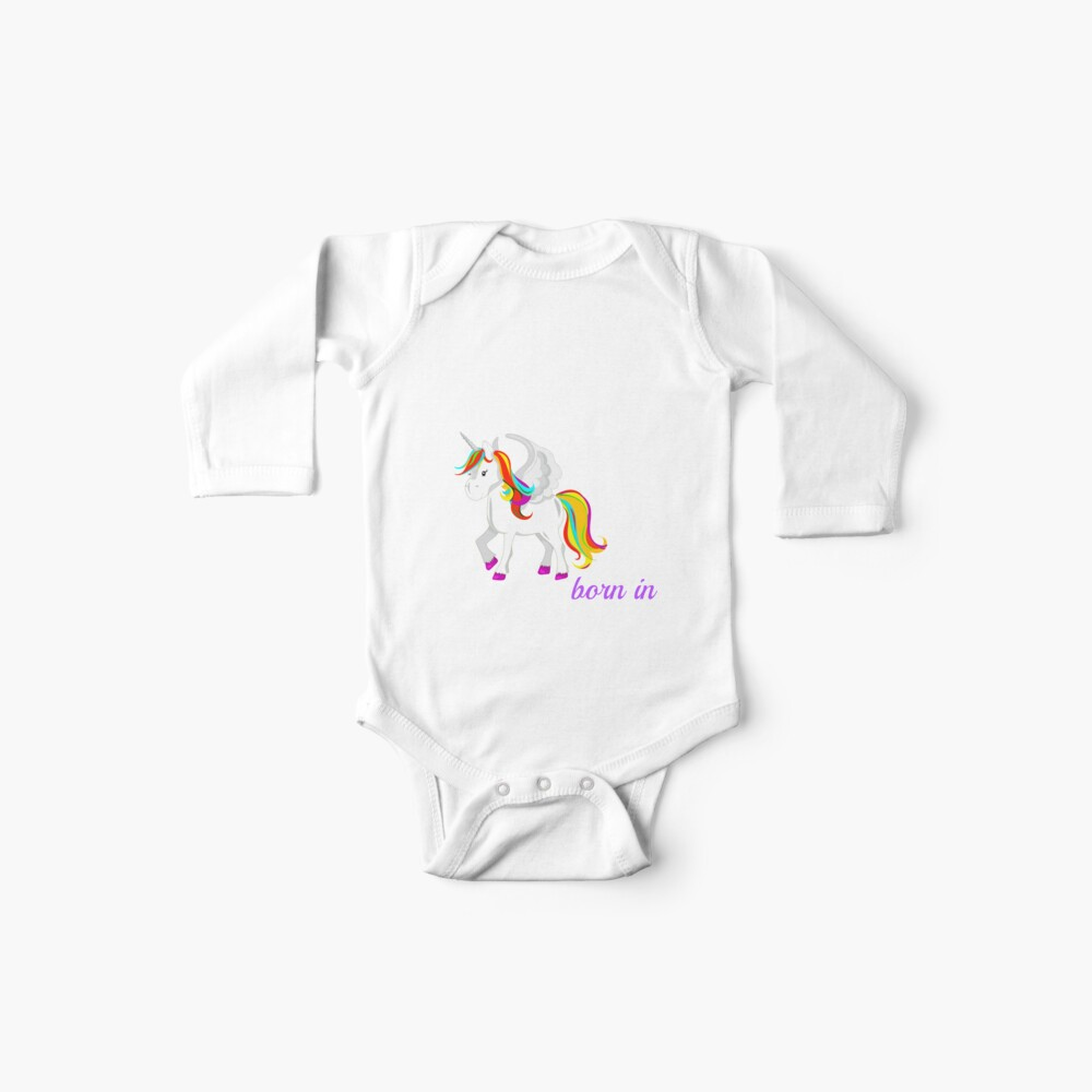 Einhorn in Alaska geboren Baby Body