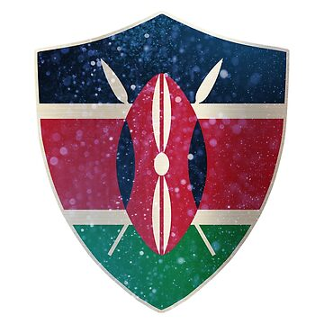 Kenya Flag Shield by ockshirts