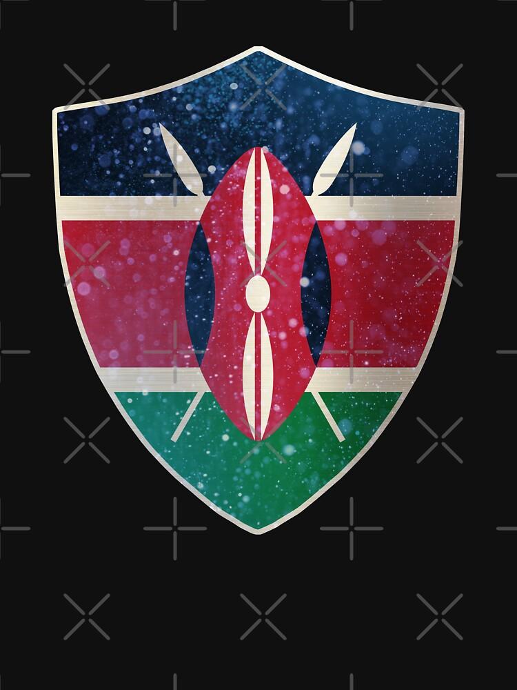 Kenya Flag Shield by ockshirts