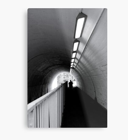 Tunnel Figure Metal Print