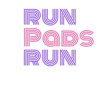 Run Pads Run purple and pink Typography by stine1