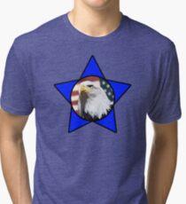 Bald Eagle & Blue Star Tri-blend T-Shirt