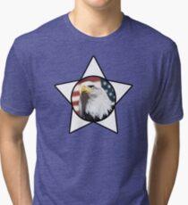 Bald Eagle & White Star T-Shirt Tri-blend T-Shirt