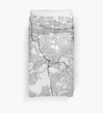 Perth map poster print wall art, Western Australia gift printable, Home and Nursery, Modern map decor for office, Map Art, Map Gifts Duvet Cover
