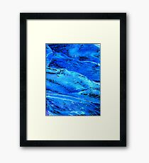 Waves of Thought Framed Print