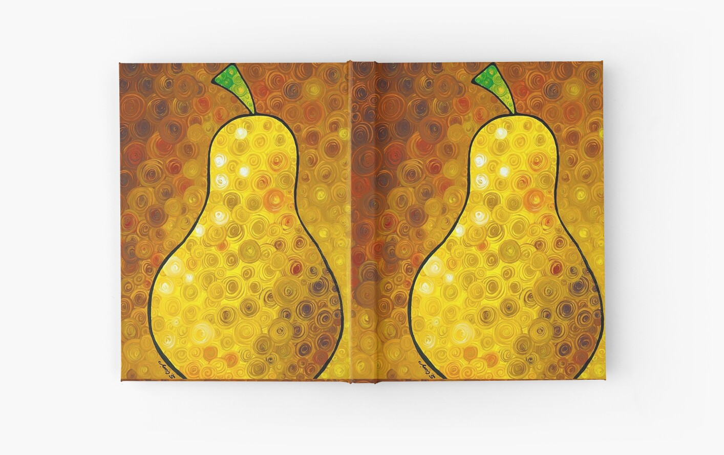 Golden Pear - Abstract Fruit Art By Sharon Cummings\