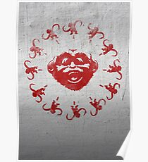 Barrel of 12 Monkeys (Red Paint) Poster