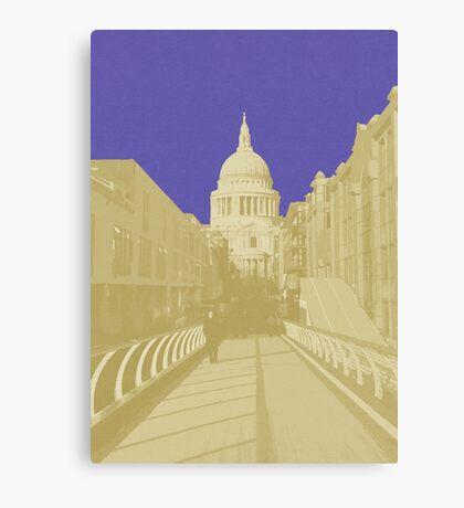 London Fruit Pop Series - Blueberry Saint Canvas Print