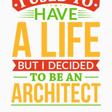 I Used To Have A Life But I Decided To Be An Architect Shirt by orangepieces