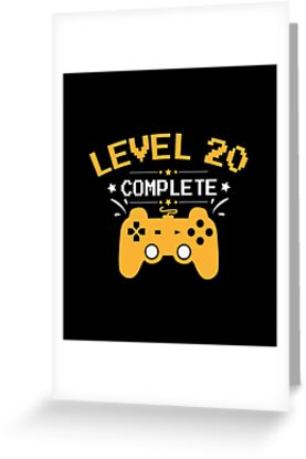 Gamer Shirt Level 20 Complete Gaming Birthday Gift Tee