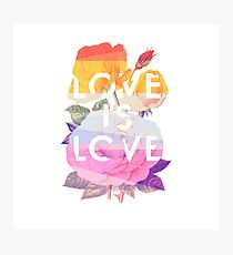 Love is Love Photographic Print