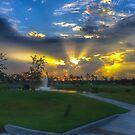Sonnenaufgang im Target Shopping Center von TJ Baccari Photography