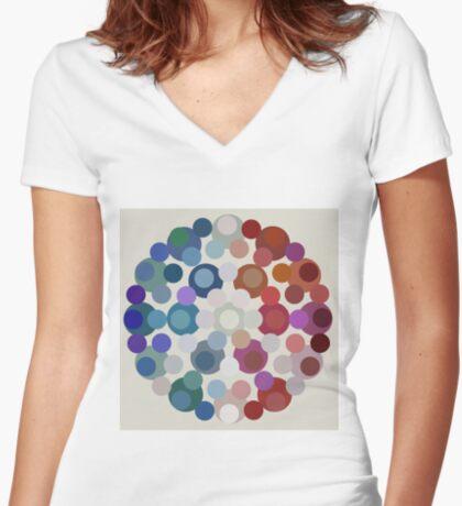 Tricolore de la Paix V Fitted V-Neck T-Shirt