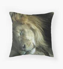 The Lion Sleeps Throw Pillow