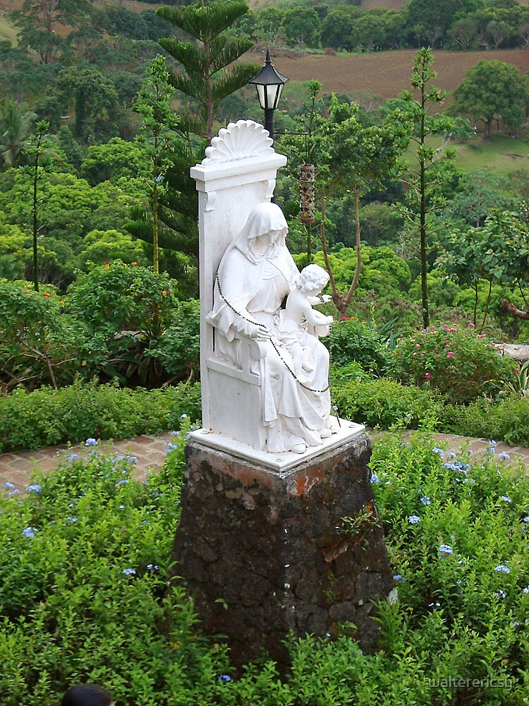 Caleruega Church white statue (closer look) in Batangas, Philippines by walterericsy