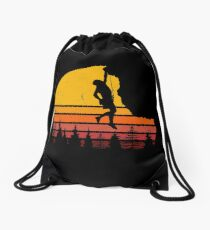 Rock Climbing - Bouldering Pine Sunset Climber Drawstring Bag