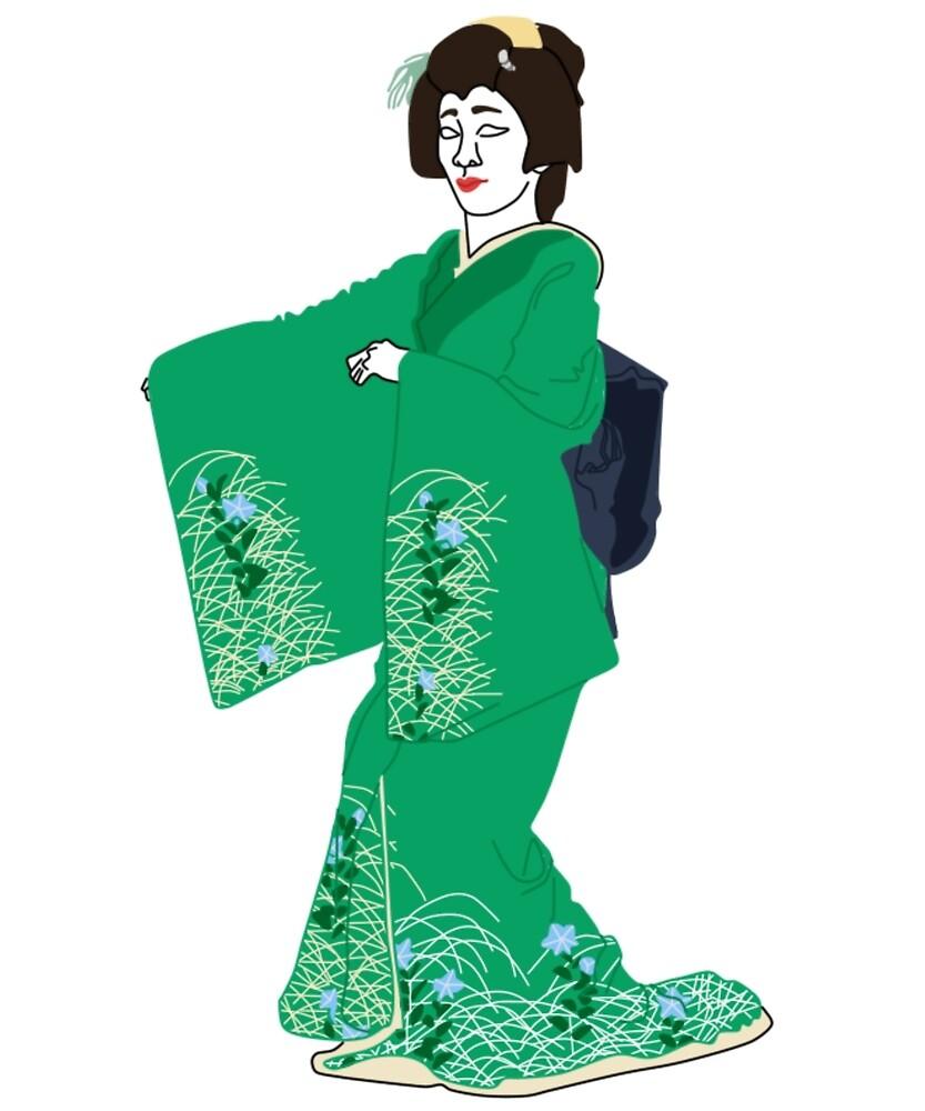 Bellflowers Kimono Motif by KHRArts