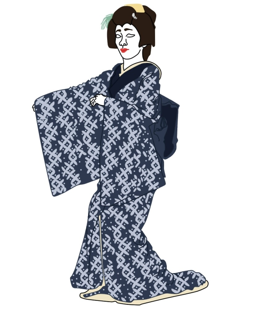 Shippo Interlocking Circles Kimono Motif by KHRArts