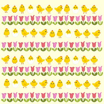 Easter - chick and tulips by ValentinaHramov