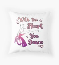 Ballet Teacher Dance Student With The Heart square Throw Pillow