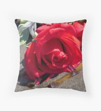 Ocean Roses Throw Pillow
