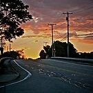 West on 138 - Sunset Under Stratus Clouds - © 2010 *featured by Jack McCabe