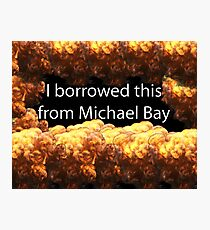 Michael Bay Photographic Print