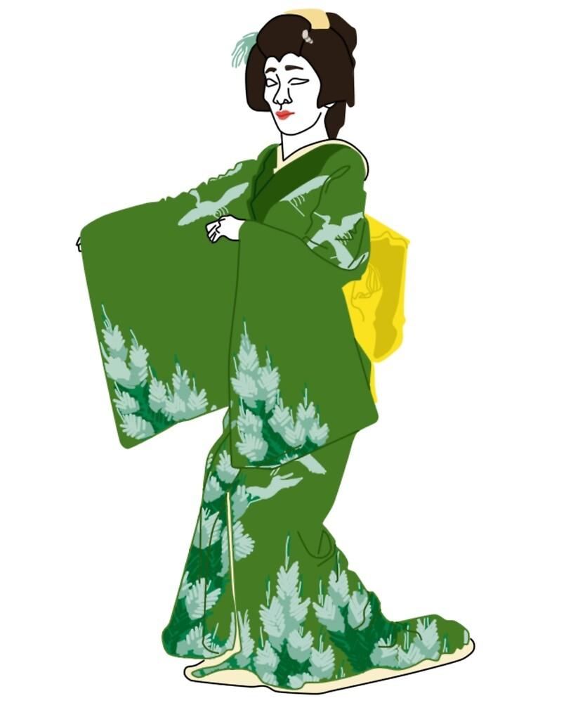 Pine Kimono Motif by KHRArts