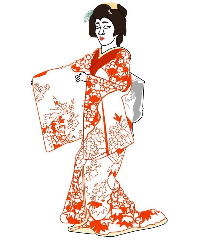 Pheasant's Eye Kimono Motif by KHRArts