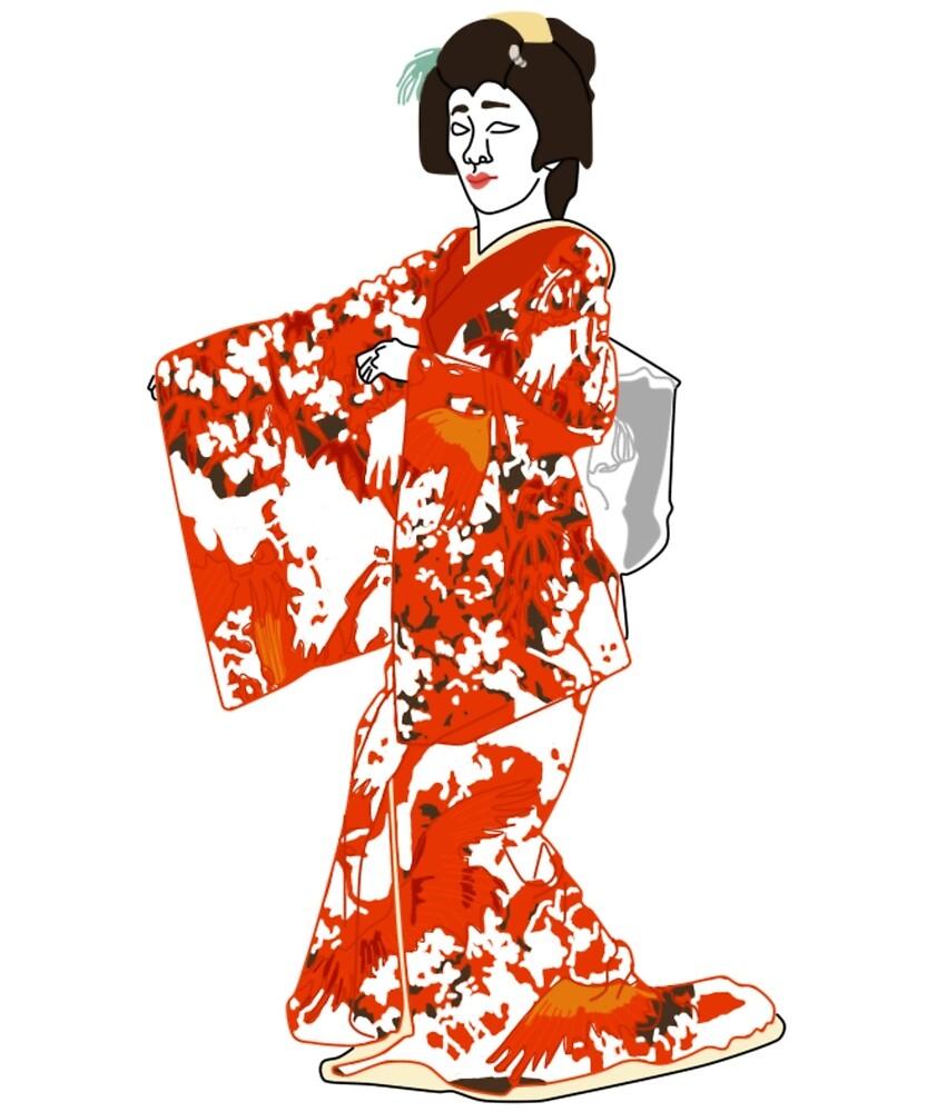 Plum Kimono Motif by KHRArts