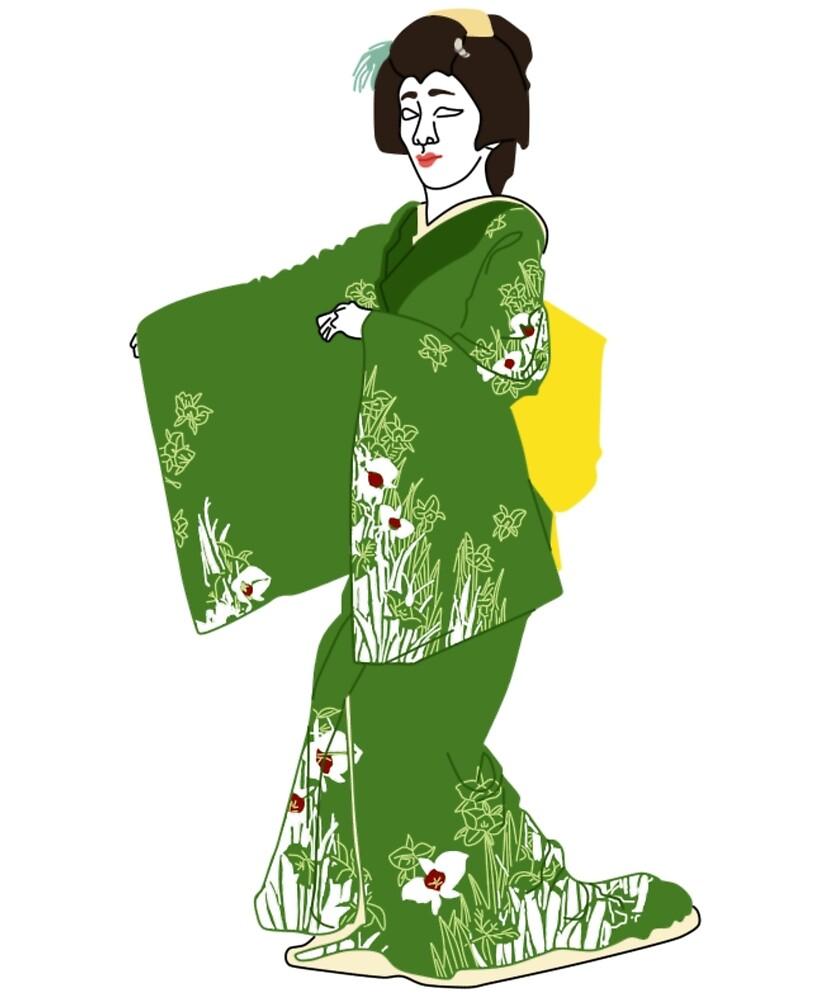Orchid Kimono Motif by KHRArts