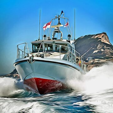 HMS Scimitar, A Fast Patrol Boat, British Gibraltar Territorial Waters, Gibraltar by ZipaC