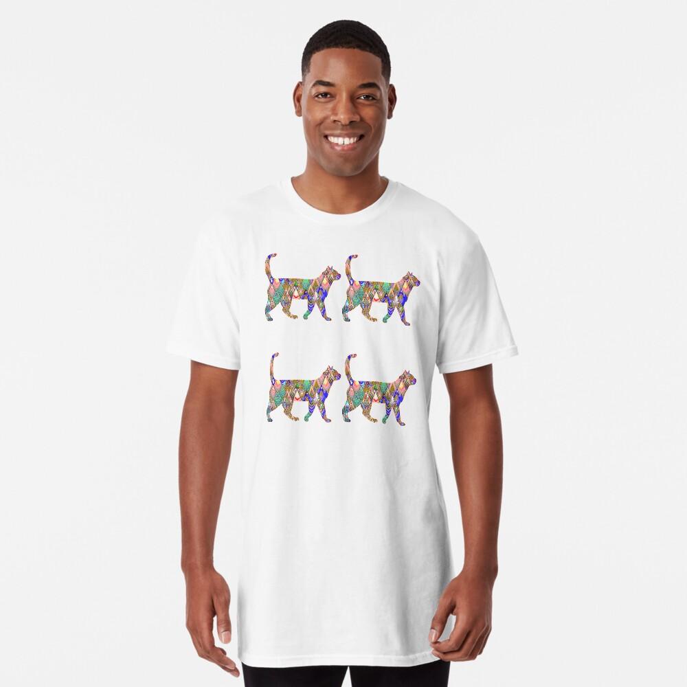 Regenbogen-Katzen Longshirt