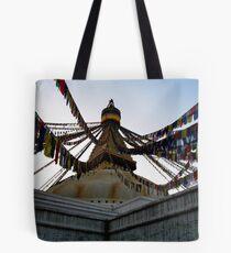 foundation. bouddhanath stupa, nepal Tote Bag