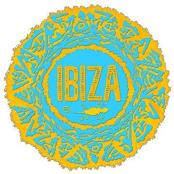 Ibiza Sonne style von Periartwork