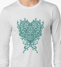 Peacock Heart Tee Dark Long Sleeve T-Shirt
