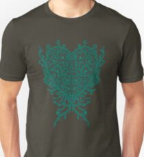 Peacock Heart Tee Dark Unisex T-Shirt
