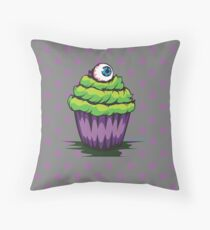 Eyeball Cupcake Throw Pillow
