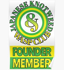Japanese Knotweed and Wasp Club Founder Member Poster