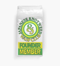 Japanese Knotweed and Wasp Club Founder Member Duvet Cover