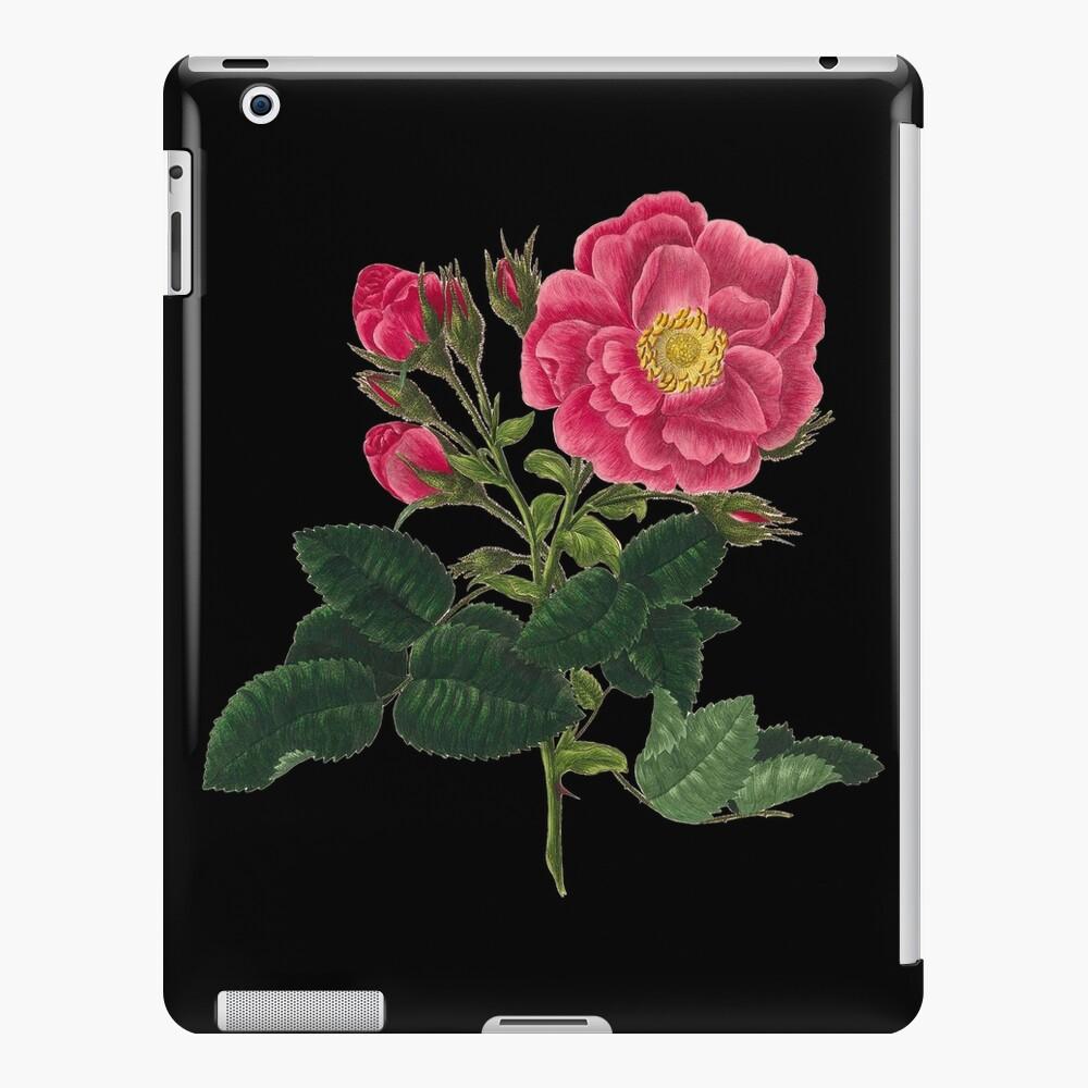 Arte retro rosado psicodélico de la pintura del jardín del flor de la flor de Rose Funda y vinilo para iPad