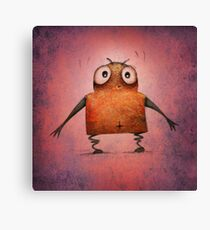 Funny Undroid Robot Canvas Print
