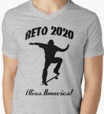 Beto 2020 - Viva America T-Shirt mit V-Ausschnitt für Männer