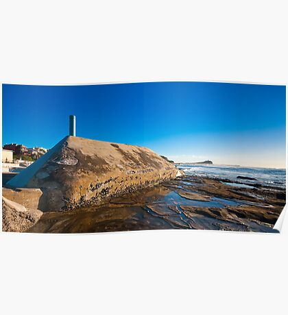 Sunrise from Newcastle Baths Poster