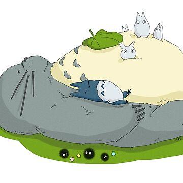 Totoro schlafen von tonguetied