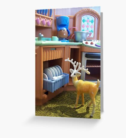 """Please Empty the Dishwasher """"Deer""""... Greeting Card"""